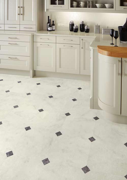 Kitchen-Foor-vinyl-tiles-marble-finish